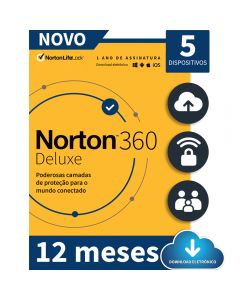 Norton 360 Deluxe 5 Device 12 Meses - ESD 21405567