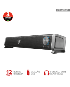 Soundbar Gamer Trust GXT 618 USB p/ TV e PC - 22209