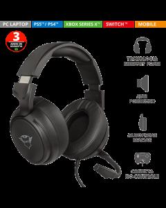 Headset Trust Gamer GXT 433 Black 23381