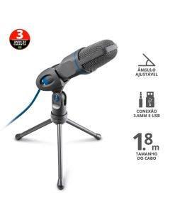 Microfone Trust USB, Ajustável com Tripé - 23790