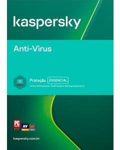 Kaspersky Anti-Vírus 1 usuário 2 anos BR ESD KL1171KDADS
