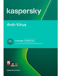 Kaspersky Anti-Vírus 3 usuários 2 anos BR ESD KL1171KDCDS