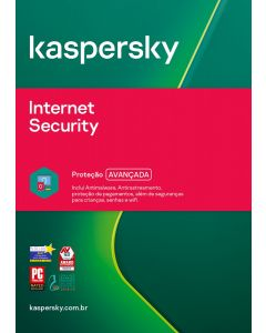 Kaspersky Internet Security 1 dev 1 year BR ESD KL1939KDAFS