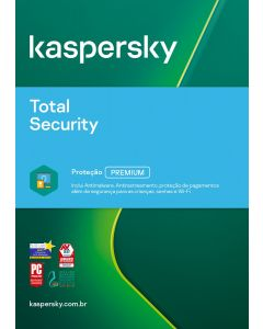 Kaspersky Total Security 3 device 2 year Bra ESD KL1949KDCDS