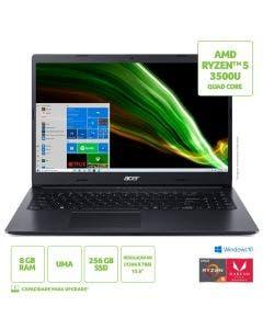 """Notebook Acer 15.6"""" A315-23-R6M7 AMD R5 8GB 256GB SDD W10H"""