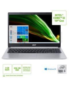 "Notebook Acer A515-54-56W9 15.6"" i5-10210U 4GB 256GB W10H"