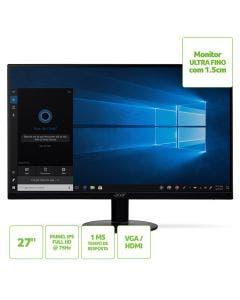 Monitor Acer 27'' Ultra-fino, Full HD, 75Hz, HDMI VGA SA270